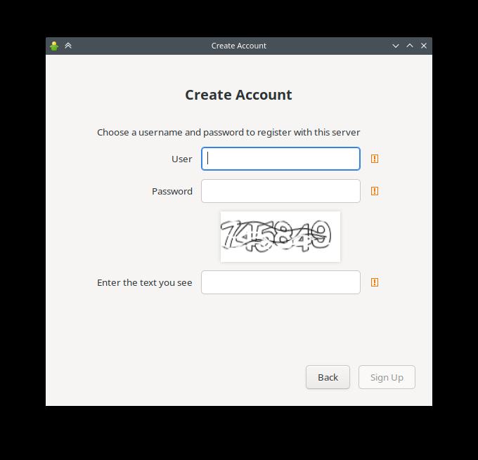 Gajim 1.2 bêta: création de compte, resuite