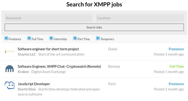 Site de publication d'offres d'emploi XMPP